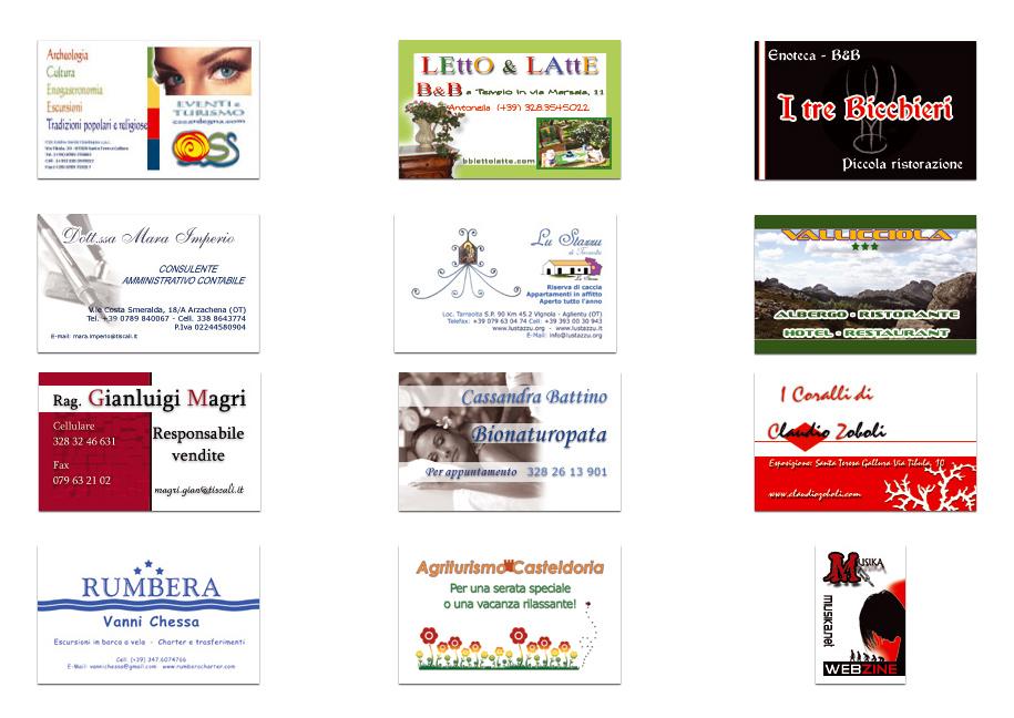offerta biglietti da visita e siti web